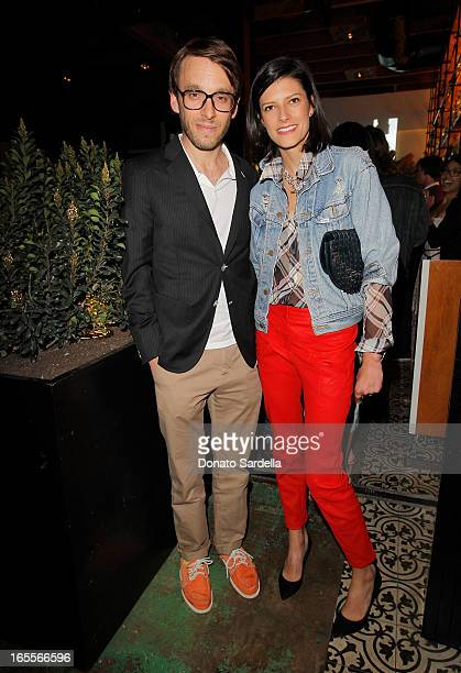 Designer Scott Sternberg and Vogue Contributing Editor Lawren Howell attend Vogue's Triple Threats dinner hosted by Sally Singer and Lisa Love at...
