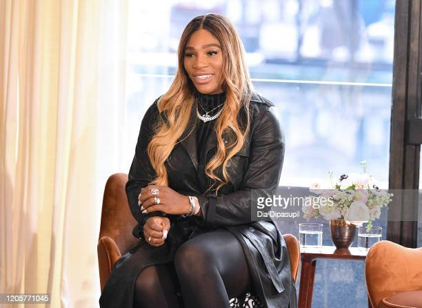 Designer Serena Williams speaks at the S By Serena Presentation during New York Fashion Week: The Shows at Spring Place on February 12, 2020 in New...
