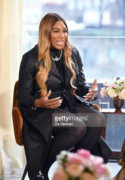 Designer Serena Williams speaks at the S By Serena Presentation during New York Fashion Week The Shows at Spring Place on February 12 2020 in New...