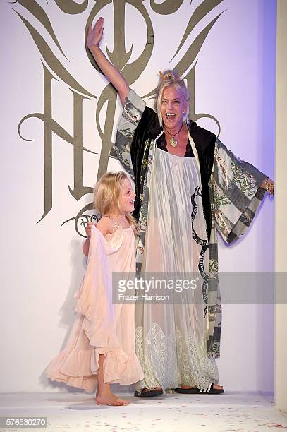 Designer Sharleen Ernster walks the runway during the Hot-As-Hell 2017 Collection at SwimMiami at W South Beach on July 13, 2016 in Miami Beach,...
