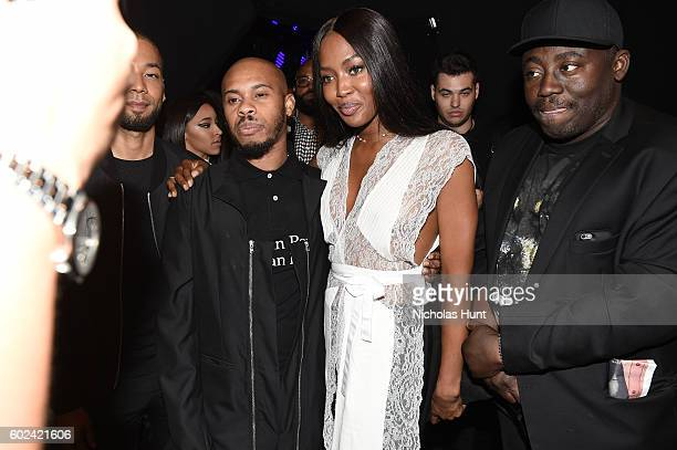 Designer Shayne Oliver and Naomi Campbell attend the Hood By Air fashion show during New York Fashion Week The Shows at The Arc Skylight at Moynihan...
