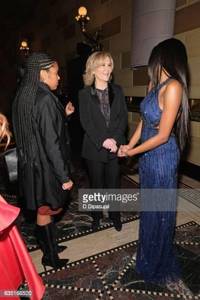 Designer Sherri Hill and Kayla Brianna attend the Sherri Hill NYFW Fall 2017 Runway Show at Gotham Hall on February 13 2017 in New York City