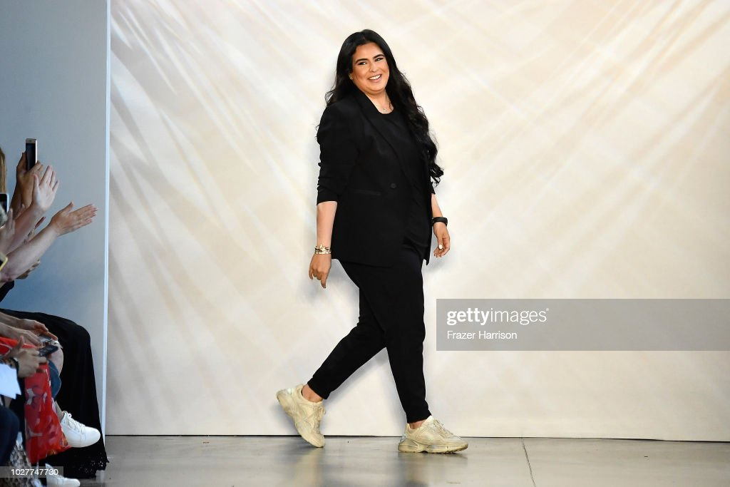 Designer Shikha Haya Al Khalifa walks the runway for Noon by Noor during New York Fashion Week: The Shows at Gallery II at Spring Studios on September 6, 2018 in New York City.