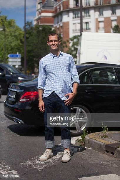 Designer Simon Porte Jacquemus after the Dior Homme show at Tennis Club de Paris on June 25 2016 in Paris France