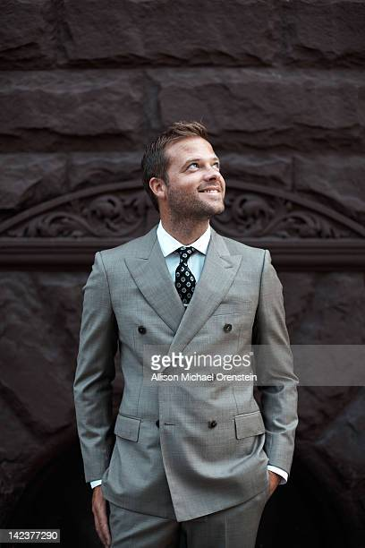 [Designer Simon Spurr is photographed for Esquire Magazine on August 19 2011 in New York City