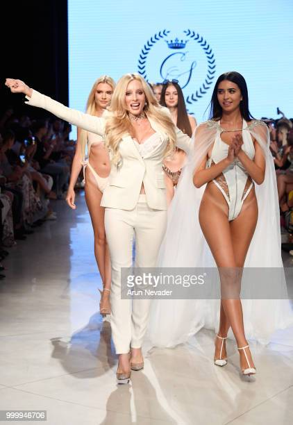 Designer Solveig Cirone walks the runway for Cirone Swim at Miami Swim Week powered by Art Hearts Fashion Swim/Resort 2018/19 at Faena Forum on July...