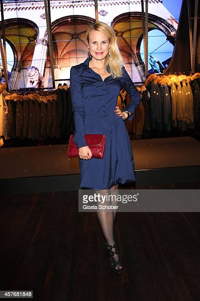 Designer Sonja Kiefer attends the Hirmer store reopening on October 22 2014 in Munich Germany