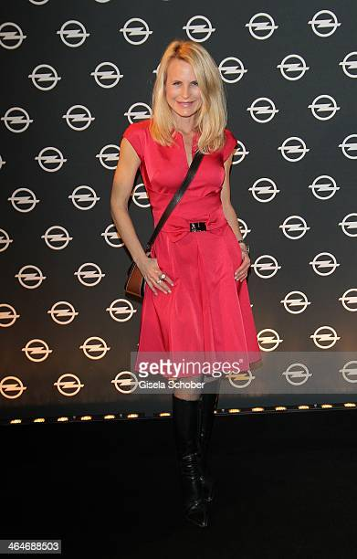 Designer Sonja Kiefer attends the presentation and vernissage of the calender 'THE ADAM BY BRYAN ADAMS' for Opel at Haus der Kunst on January 23 2014...