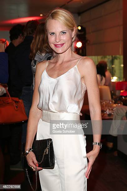 Designer Sonja Kiefer during the Emporio Armani Friends event at the Armani Caffe on July 29 2015 in Munich Germany