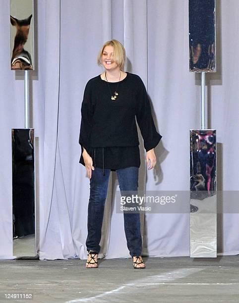 Designer Sophia Kokosalaki walks the runway at the Diesel Black Gold during MercedesBenz Fashion Week Spring 2012 at Lincoln Center on September 13...