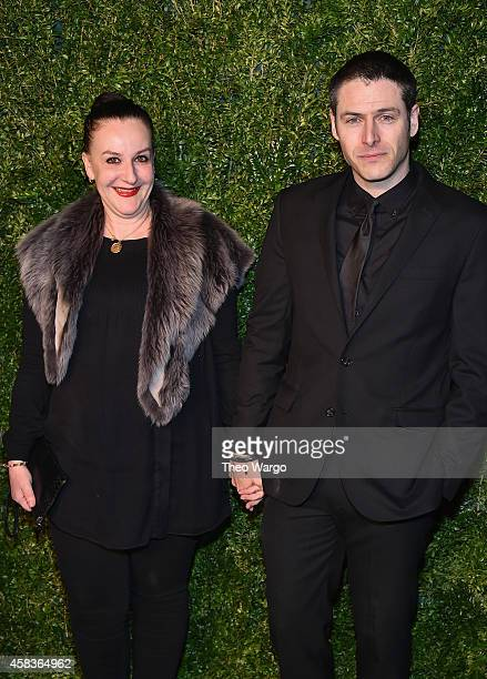 Designer Sophie Theallet and Steven Francoeur attend the 11th annual CFDA/Vogue Fashion Fund Awards at Spring Studios on November 3 2014 in New York...