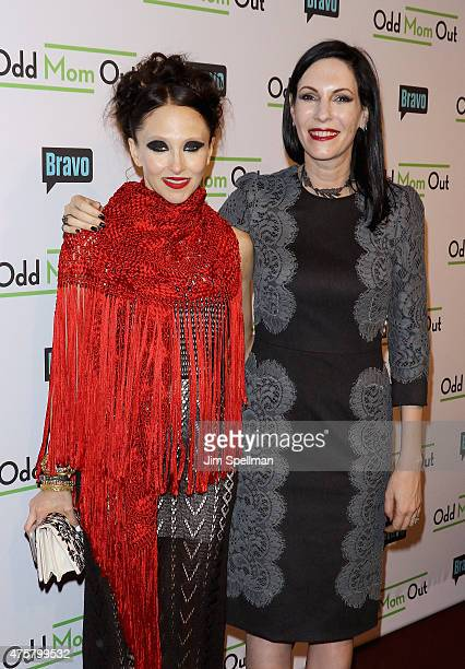 Designer Stacey Bendet and actress Jill Kargman attend the Bravo Presents a special screening of Odd Mom Out at Florence Gould Hall on June 3 2015 in...