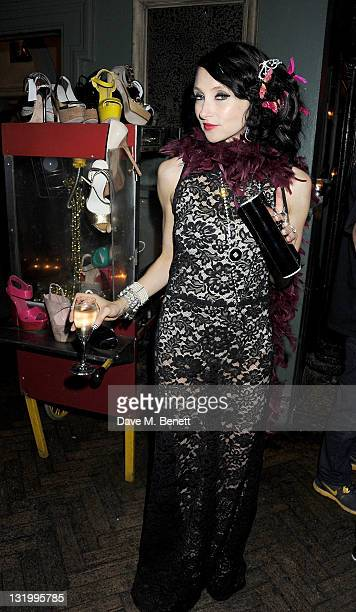 Designer Stacey Bendet attend the Alice Olivia Black Tie Carnival which she hosted at Paradise by Way of Kensal Green on November 9 2011 in London...