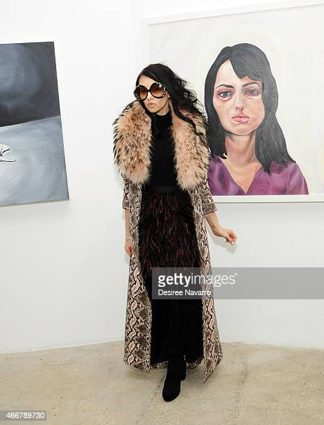 Designer Stacey Bendet attends Tali Lennox Exhibition Opening Reception at Catherine Ahnell Gallery on March 18 2015 in New York City