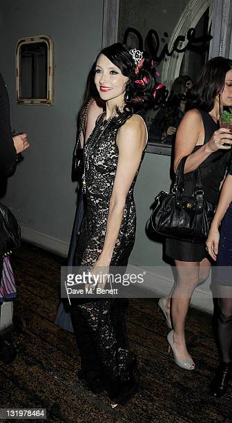 Designer Stacey Bendet attends the Alice Olivia Black Tie Carnival which she hosted at Paradise by Way of Kensal Green on November 9 2011 in London...