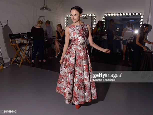 Designer Stacey Bendet attends the alice olivia by Stacey Bendet presentation during MercedesBenz Fashion Week Spring 2014 on September 9 2013 in New...