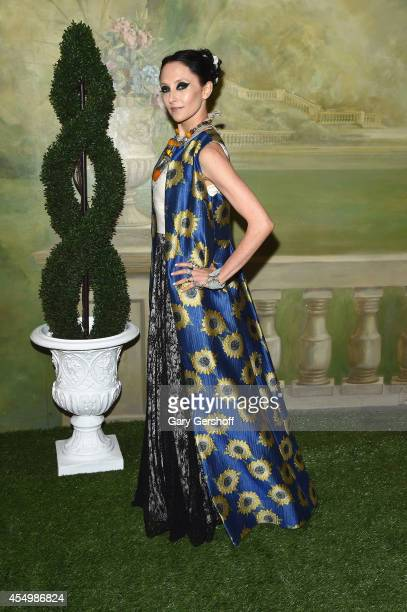 Designer Stacey Bendet attends the Alice Olivia By Stacey Bendet presentation during MercedesBenz Fashion Week Spring 2015 at The Pierre Hotel on...