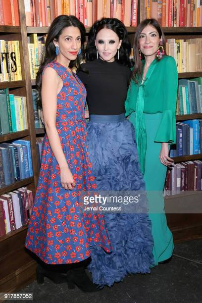 Designer Stacey Bendet Huma Abedin and Heba Abedin attend the Alice Olivia by Stacey Bendet presentation during New York Fashion Week The Shows at...