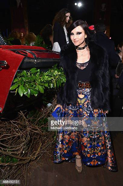 Designer Stacey Bendet poses at the alice + olivia by Stacey Bendet Fall 2014 presentation during Mercedes-Benz Fashion Week Fall 2014 at The...