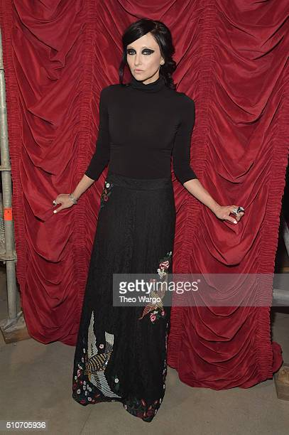 Designer Stacey Bendet poses at the alice + olivia by Stacey Bendet Fall 2016 presentation at The Gallery, Skylight at Clarkson Sq on February 16,...