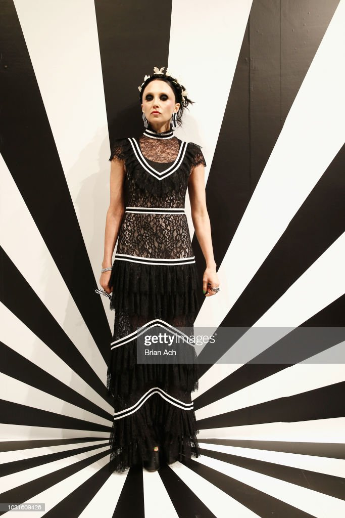 Designer Stacey Bendet poses for the Alice + Olivia by Stacey Bendet presentation during New York Fashion Week: The Shows at 49 Chambers St on September 11, 2018 in New York City.