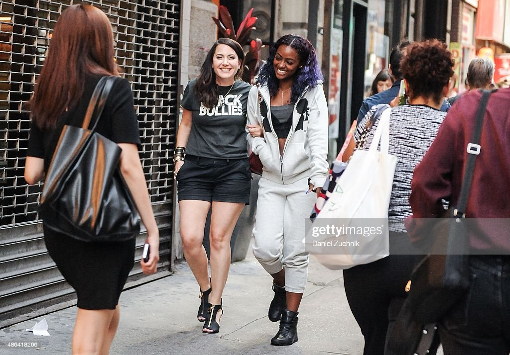 Justine Skye Fitting For 2016 Spring NYFW With Designer Stacy Igel : News Photo