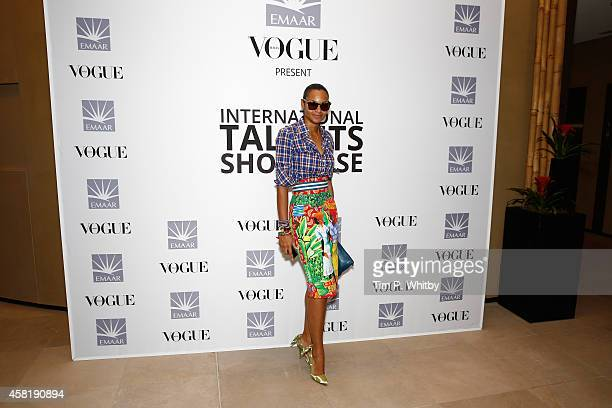 Designer Stella Jean at the International Design Showcase during the Vogue Fashion Dubai Experience on October 31, 2014 in Dubai, United Arab...