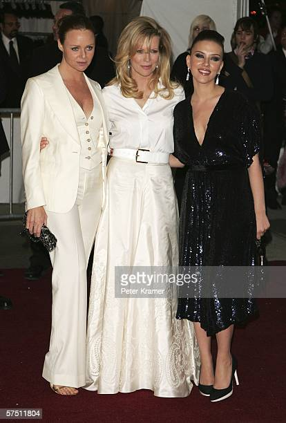 Designer Stella McCartney actresses Kim Basinger and Scarlett Johansson attend the Metropolitan Museum of Art Costume Institute Benefit Gala...