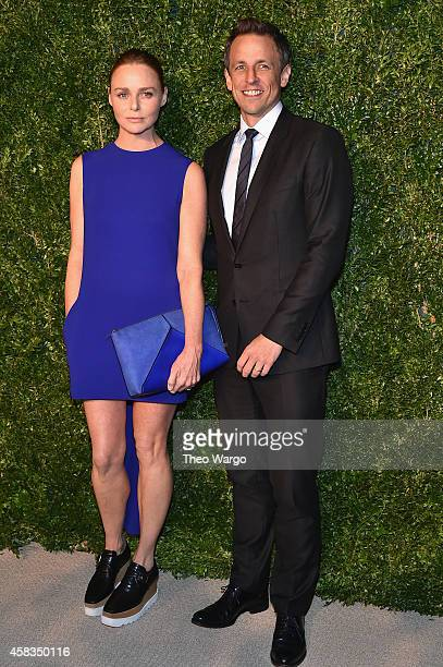 Designer Stella McCartney and actor Seth Meyers attend the 11th annual CFDA/Vogue Fashion Fund Awards at Spring Studios on November 3 2014 in New...
