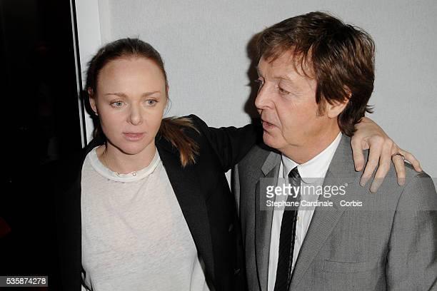 Designer Stella McCartney and English singer Paul McCartney attend the Stella McCartney ReadytoWear Autumn/Winter 2009/2010 fashion show during Paris...