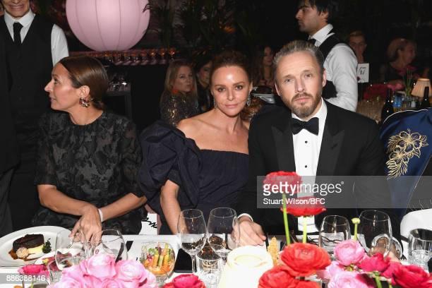 Designer Stella McCartney and her husband Alasdhair Willis during The Fashion Awards 2017 in partnership with Swarovski at Royal Albert Hall on...