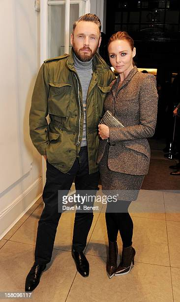 Designer Stella McCartney and husband Alasdhair Willis attend the switchingon of the Stella McCartney Bruton Street store Christmas lights on...