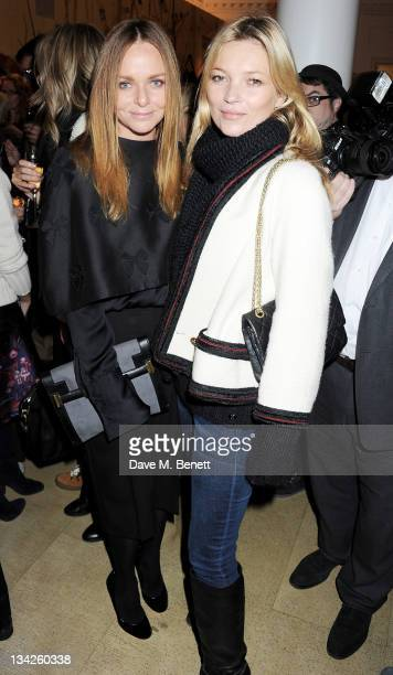 Designer Stella McCartney and Kate Moss attend the switchingon of the Stella McCartney Bruton Street Store Christmas lights on November 29 2011 in...