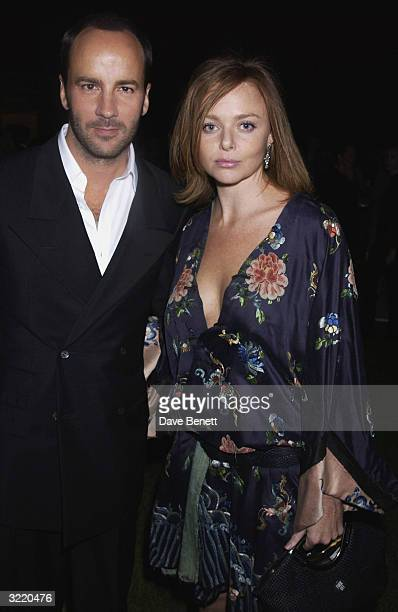 Designer Stella McCartney and Tom Ford of Gucci at the relaunch of the Sunday Times Style Magazine at the Serpentine GalleryLondon on the 5th of...