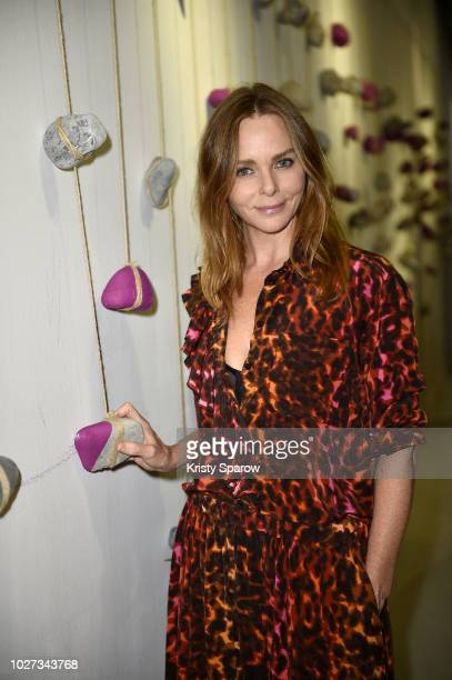 Designer Stella McCartney attends the 'Go For Good X Stella McCartney' at Galeries Lafayette on September 5 2018 in Paris France