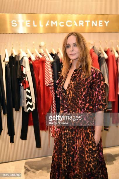 Designer Stella McCartney attends the 'Go For Good X Stella McCartney' at Galeries Lafayette on September 5 2018 in Paris France