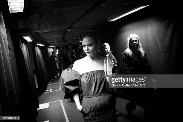 Designer Stella McCartney is seen backstage during The Fashion Awards 2017 in partnership with Swarovski at Royal Albert Hall on December 4 2017 in...