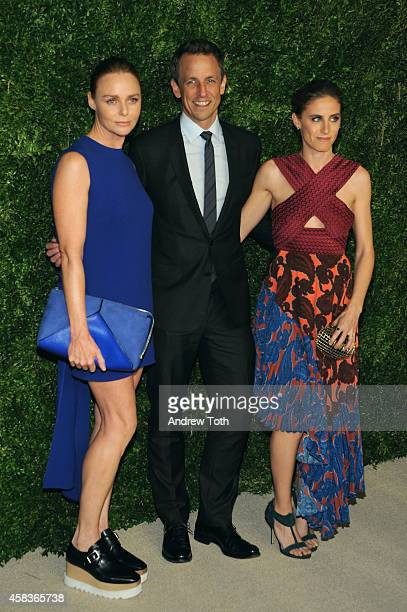 Designer Stella McCartney Seth Meyers and Alexi Ashe attend the 11th annual CFDA/Vogue Fashion Fund Awards at Spring Studios on November 3 2014 in...