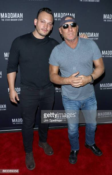 951939fc6c2 Designer Steve Madden and director Ben Patterson attend the Maddman The Steve  Madden Story New York