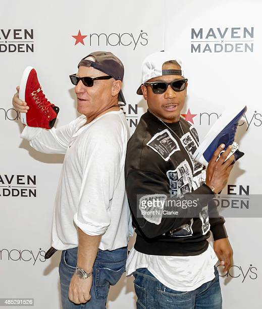 Designer Steve Madden and recording artist Ja Rule attend the release of the Maven x Madden Men's Collection at Macy's Herald Square on August 26...