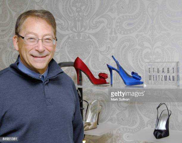 Designer Stuart Weitzman with shoes from his Red Carpet Collection in the Stuart Weitzman awards styling suite on February 20 2009 in West Hollywood...
