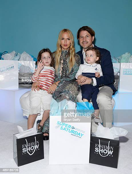 Designer stylist editor and author Rachel Zoe husband Rodger Berman and family attend the firstever OCRF Super Saturday event at Fashion Show Las...