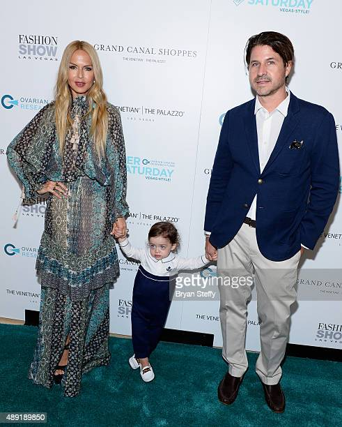 Designer stylist editor and author Rachel Zoe husband Rodger Berman and their son Kaius Berman arrive at Grand Canal Shoppes at The Venetian The...