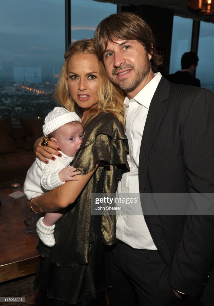 Designer/ Stylist Rachel Zoe (C), her husband Rodger Berman (R), and son Skyler Morrison Berman (L) attend 'InStyle's Dinner With A Designer' for Rachel Zoe at Soho House on June 21, 2011 in West Hollywood, California.