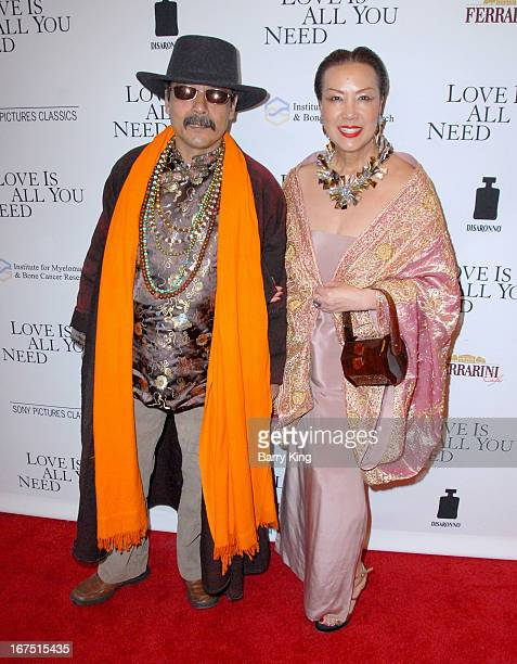 Designer Sue Wong and Romeo Shresta arrives to the Los Angeles premiere of Sony Picture Classics 'Love Is All You Need' at Linwood Dunn Theater at...