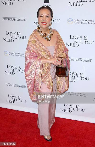 Designer Sue Wong arrives to the Los Angeles premiere of Sony Picture Classics 'Love Is All You Need' at Linwood Dunn Theater at the Pickford Center...