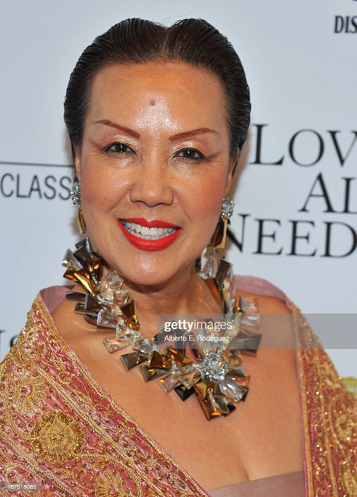 Designer Sue Wong arrives to the premiere of Sony Pictures Classics' 'Love Is All You Need' at Linwood Dunn Theater at the Pickford Center for Motion Study on April 25, 2013 in Hollywood, California.