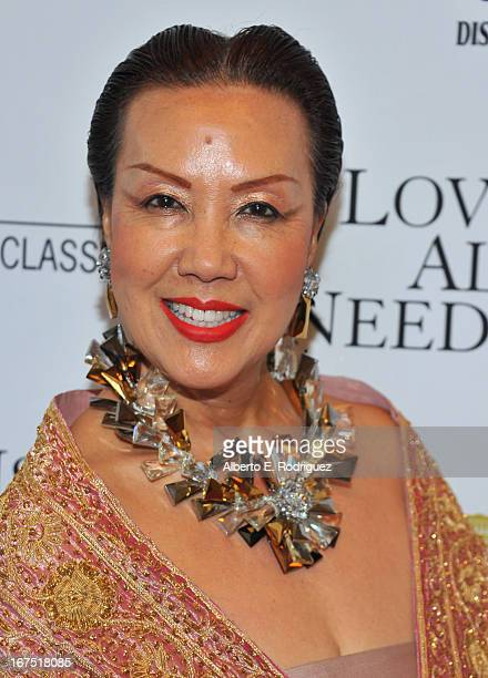 """Designer Sue Wong arrives to the premiere of Sony Pictures Classics' """"Love Is All You Need"""" at Linwood Dunn Theater at the Pickford Center for Motion..."""