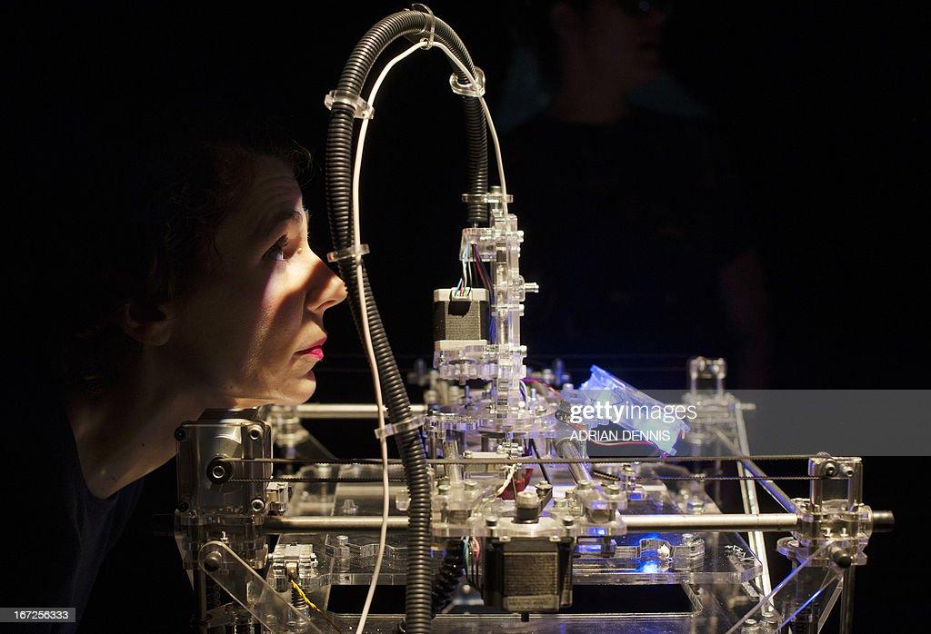 BRITAIN-TECHNOLOGY-PRINTING : News Photo