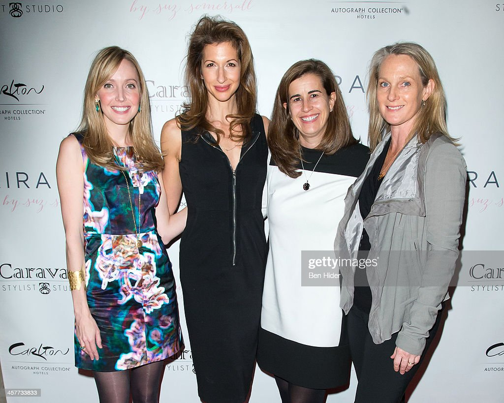 Designer Suz Somersall, Actress Alysia Reiner, Tina Daniels and Piper Kerman attend the 'Orange Is The New Black - My Year In Women's Prison' charity book shopping experience>> at Carlton Hotel on December 18, 2013 in New York City.